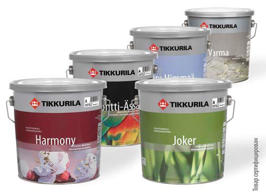 Материалы Тиккурила для покраски наружных конструкций