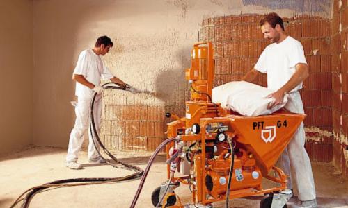Механизация штукатурных работ