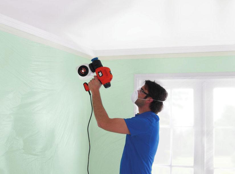 Как покрасить стены с помощью компрессора